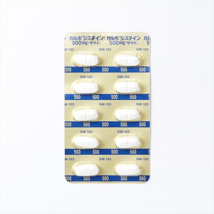 カルボシステイン錠500mg「サワイ」の商品写真